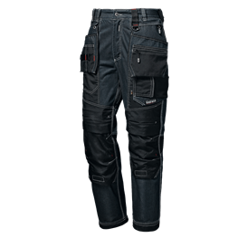 "Pantalone ""Heavy"" Denim Blu/Nero"