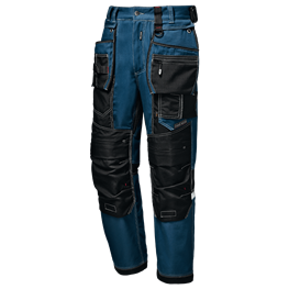 "Pantalon ""Heavy"" Canvas Blu Petrolio/Nero"